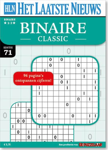 hln binaire puzzels 1-3* 71 – de puzzelaar